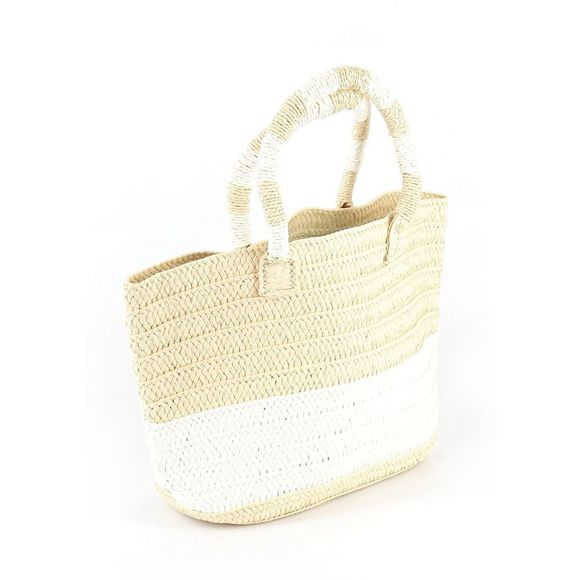 Altru Hand-Woven Paper Straw Tote Bag